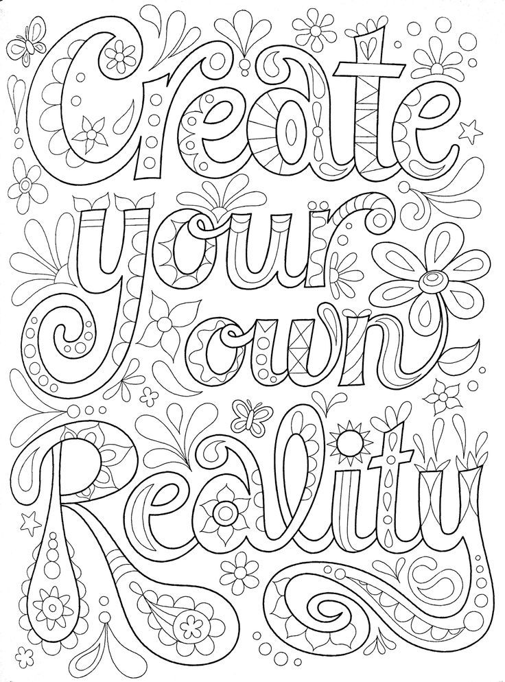 Positive Quote Coloring Pages For Kids