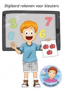 Rekenen, activiteiten voor kleuters op het digibord, computer of tablet, ga voor de spellen naar kleuteridee
