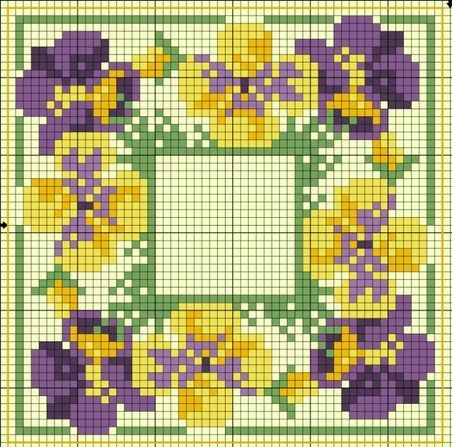 free cross stitch chart ... no color chart available, just use the pattern chart as your color guide..