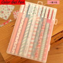 100 pçs/lote atacado kawaii cor Gel pens set material escolar Caneta material de escritório coreano japonês papelaria W3144(China (Mainland))