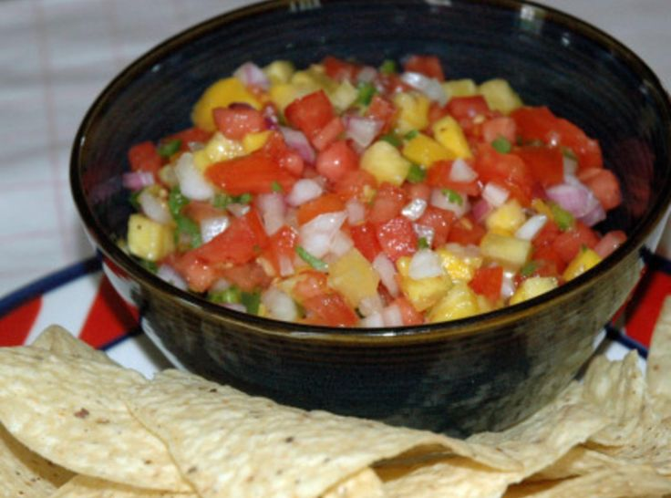 Pico de Gallo by Juliann Esquivel - Pico de Gallo translates to Roosters Beak. This is a great Pico de Gallo recipe right from my grandmother's kitchen. You will love this recipe fresh, sweet, and spicy all together right out of Mexico. This is an authentic Pico de Gallo recipe. It was always on our table in the summer time. We enjoyed with tortilla chips or on top of grilled meats from the bar-b-cue. I am sure it will be a favorite at your home. Enjoy