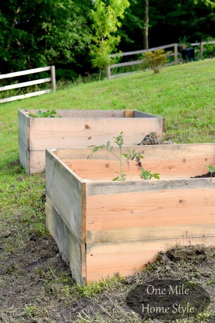 Hillside Garden Boxes - Raised bed gardening on a hill