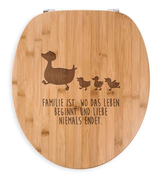 WC Sitz Enten Familie aus Bambus Coffee - <b>Das Original von Mr. & Mrs. Panda.</b> Ein wunderschöner WC Sitz aus naturbelassenem Bambus Coffee mit unsere speziellen und liebvollen Mr. & Mrs....