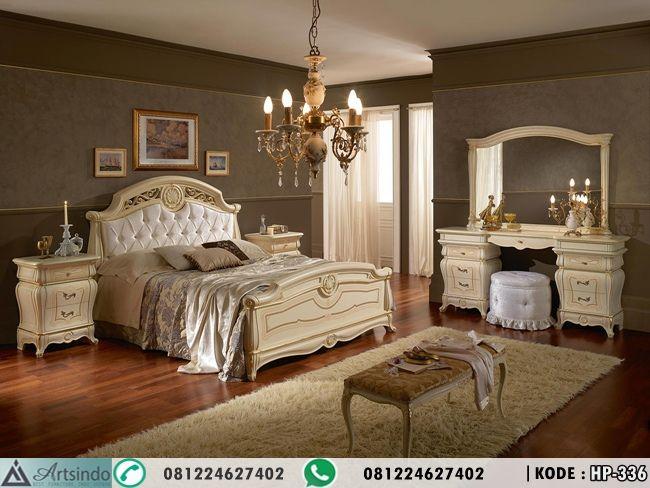 Set Tempat Tidur Mewah Elegan Patinata, Kamar Tidur Utama Klasik, Ranjang Pengantin Terbaru