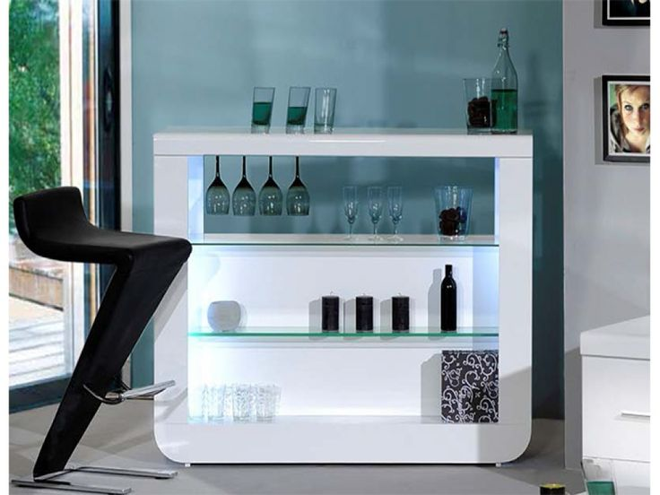 Floyd White High Gloss Open Bar Sideboard | Sideboards from FADS