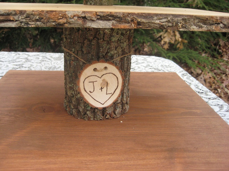 Rustic Cupcake Stand Log Slices 5 Tier X Large Personalized. $149.95, via Etsy.
