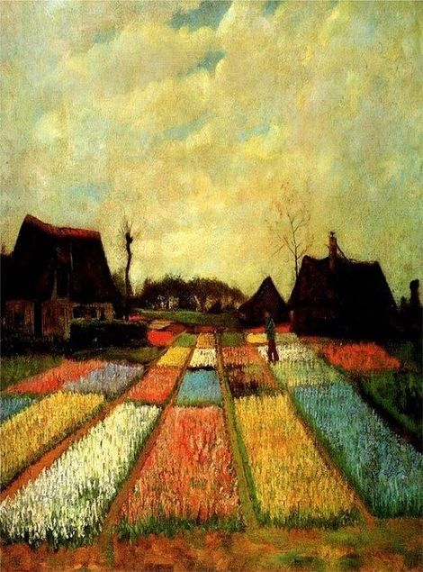 Vincent van Gogh, Bulb Fields on ArtStack #vincent-van-gogh #art