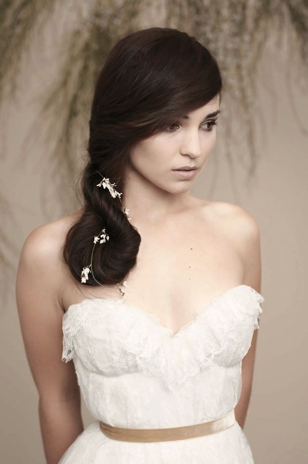 bridesmaid Hairstyles ~ Sophisticated twisted ponytail