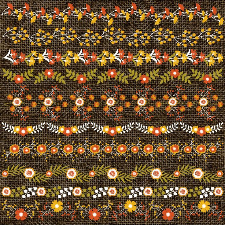 70% OFF SALE Floral Borders Clipart - Vector Floral Clipart, Rustic Border Clipart, Flowers Border Clipart, Vector Floral Border Clip Art