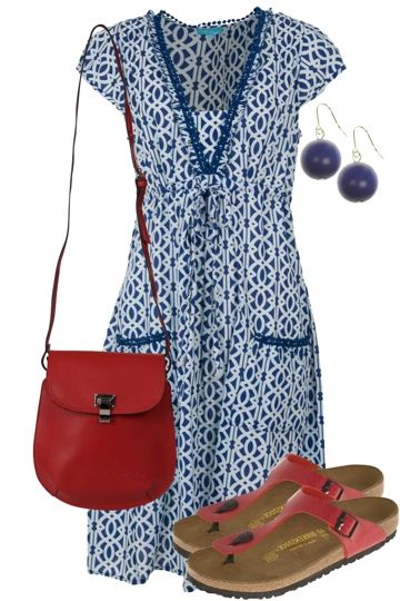 Blue Sky Dreaming Outfit includes Birkenstock, Firefly, and LouenHide - Birdsnest Buy Online