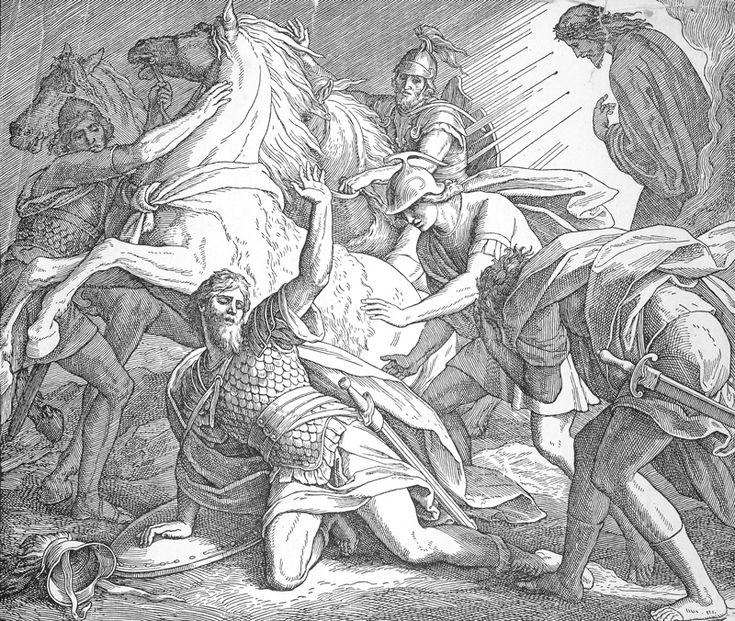 Bilder der Bibel – Pauli-Bekehrung – Julius Schnorr von Carolsfeld   – Bilblische Bilder und Zeichnungen