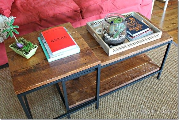 Ikea Nesting Table Hack with Wood