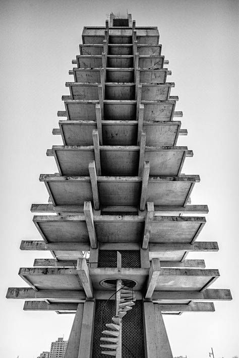 Komazawa Olympic Tower was designed by Kenzo Tange for the 1964 Tokyo Olympics