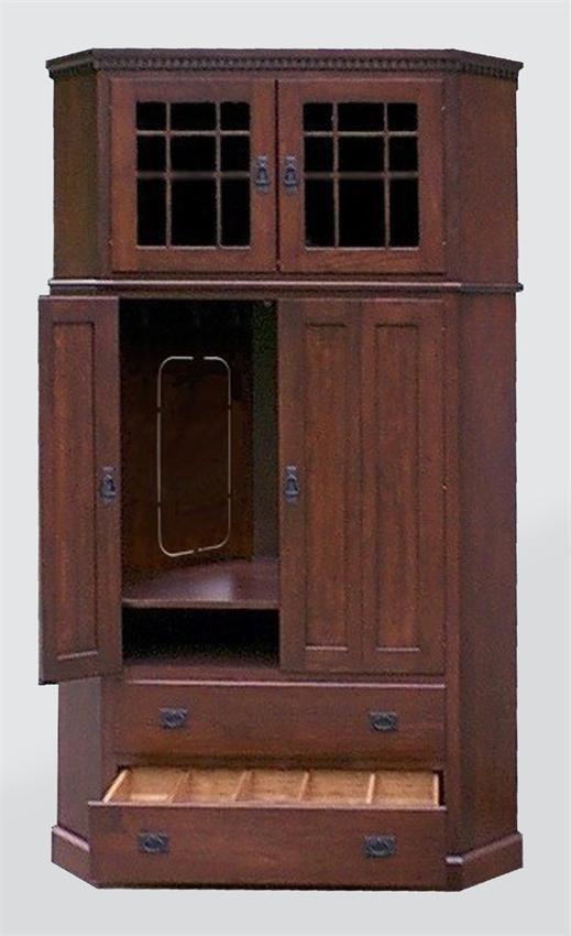 Amish Tall Corner Entertainment Center - Mission or Shaker Style