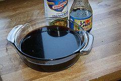 "Chinese ""brown sauce"" recipe:    3/4 cup beef broth 1 tablespoon plus 1 teaspoon oyster sauce 1 teaspoon dark soy sauce 1/2 teaspoon sugar 1 tablespoon cornstarch 1 teaspoon rice wine vinegar"