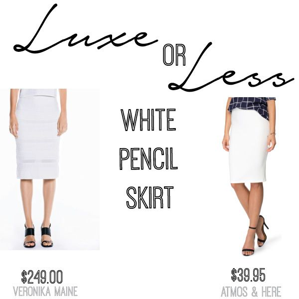 Luxe or Less white pencil skirt by Atmos & Here and Veronika Maine on Mum's Closet the blog
