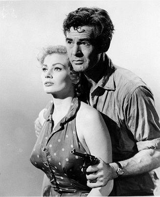 Robert Ryan & Anita Ekberg, protagonistas en Back from Eternity (1956)