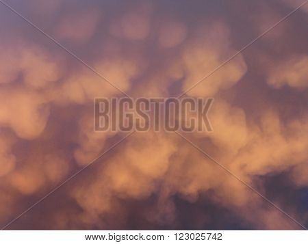 Thunderstorm clouds at sunset