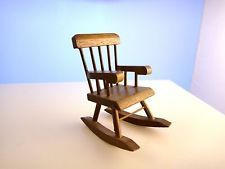 Vintage Hello Dolly Miniature Rocking Chair