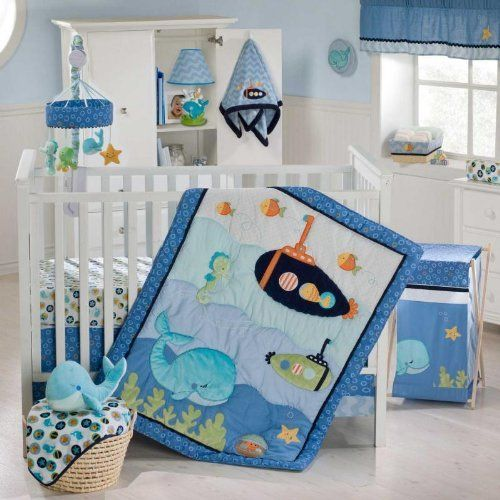 Kids Line Blue Lagoon 8 Piece Crib Bedding Set by Kids Line, http://www.amazon.com/dp/B0067MHENQ/ref=cm_sw_r_pi_dp_X66psb1F4THWB