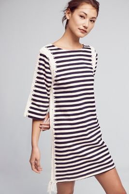 Nautical Patchwork Tunic Dress by Pepin, $198.00 {Anthropologie Spring 2017}