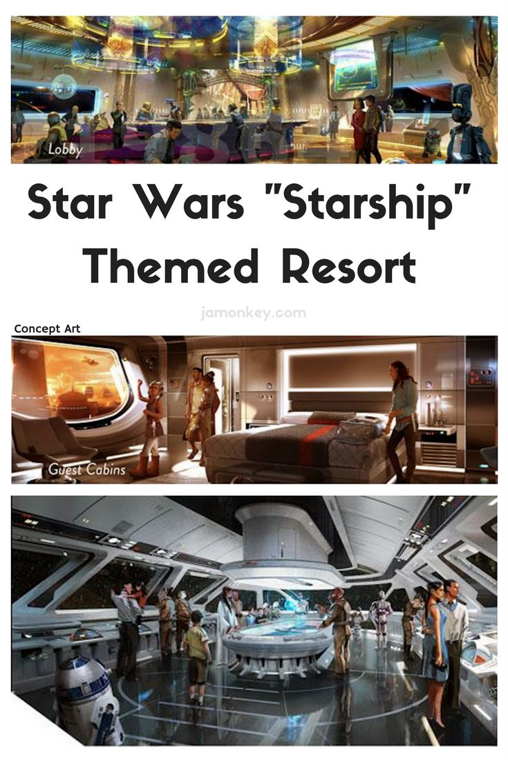 "Star Wars Land ""Starship"" themed resort concept for Walt Disney World"