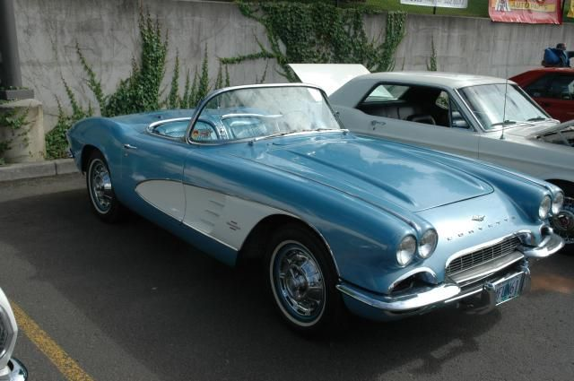 C1 Corvette (1953-1962): This Corvette convertible came with a base 283 cubic inch engine that produced 230 horsepower. Almost 11,000 of these cars, all convertibles, were made in 1961.