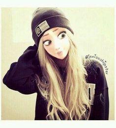 blond, sensa, disney, princesse de Disney, moderne, obey, agréable, princesse, swag
