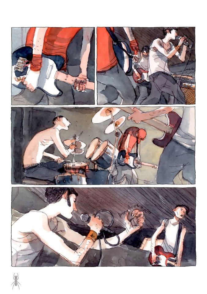 Gipi (Gianni Pacinotti)   Garage Band  http://24.media.tumblr.com/tumblr_m7lmtfvpiO1rabgjfo1_r1_1280.jpg