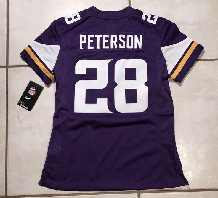 NWT NIKE Minnesota Vikings Adrian Peterson SEWN NFL Jersey Women Small MSRP $145  | eBay