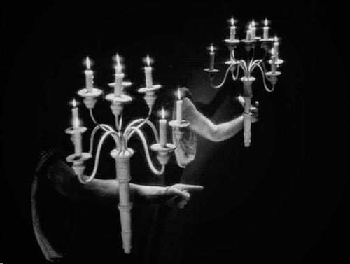 Cocteau's 1946 La Belle et La Bette (Beauty & the Beast) had super creepy scenery sets & effects ahead of its time.