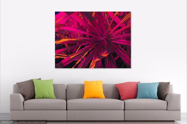 DP64 Fan Grass Pink Explosion Digital print -lounge wall decor