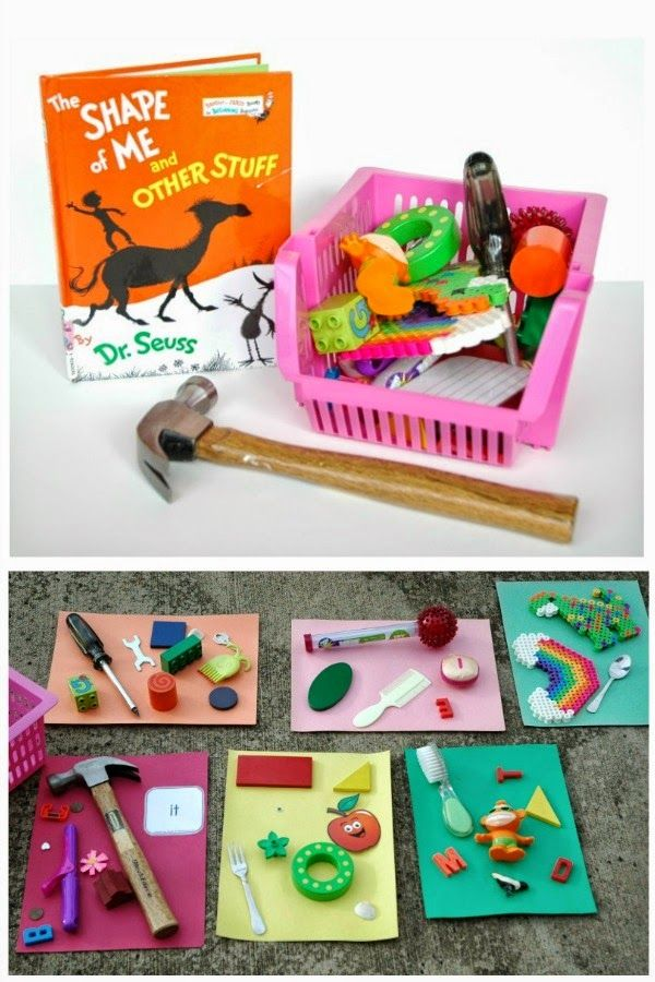 Awesome shape matching activity to use with the Dr. Seuss book, The Shape of Me and Other Stuff.  Pefrect for toddlers, preschoolers, or elementary aged children.