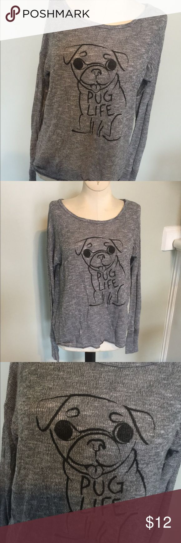 Aeropostale Bethany Mota Pug Life Sweater Super cute Lite weight sweater by Bethany Mota for Aeropostale,Sz XS.I think my daughter only wore this once.Very good condition. Aeropostale Sweaters Crew & Scoop Necks