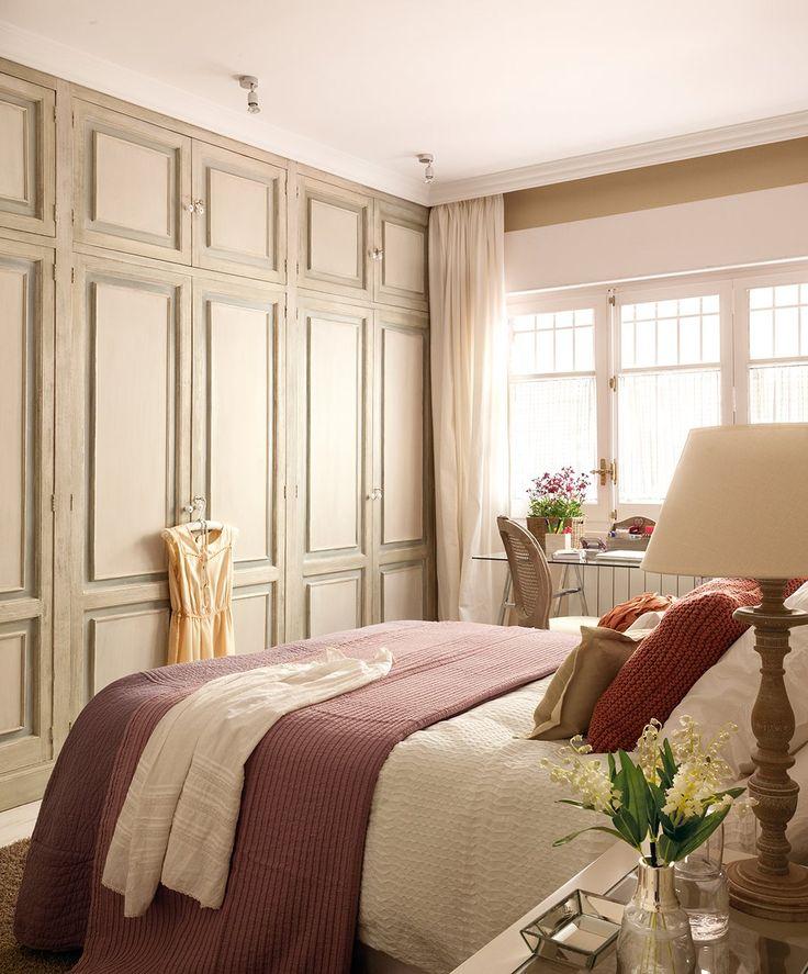 Pretty doors closet in romantic bedroom