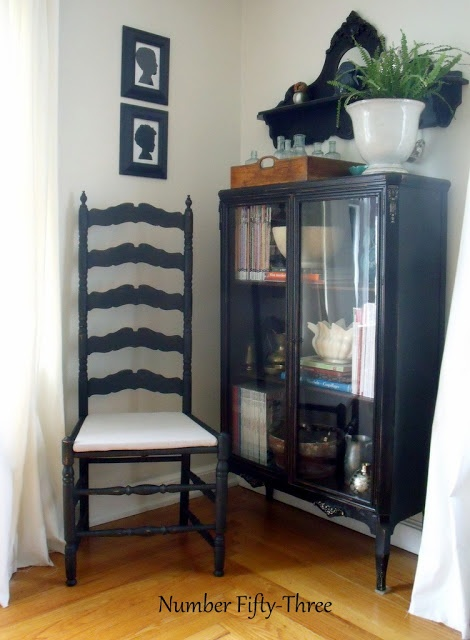 Number Fifty-Three: Quick Antique Ladder Back Chair Makeover