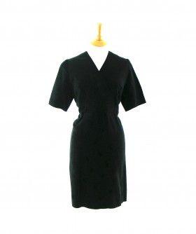 40s black vintage dress