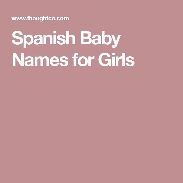 Spanish Baby Names for Girls