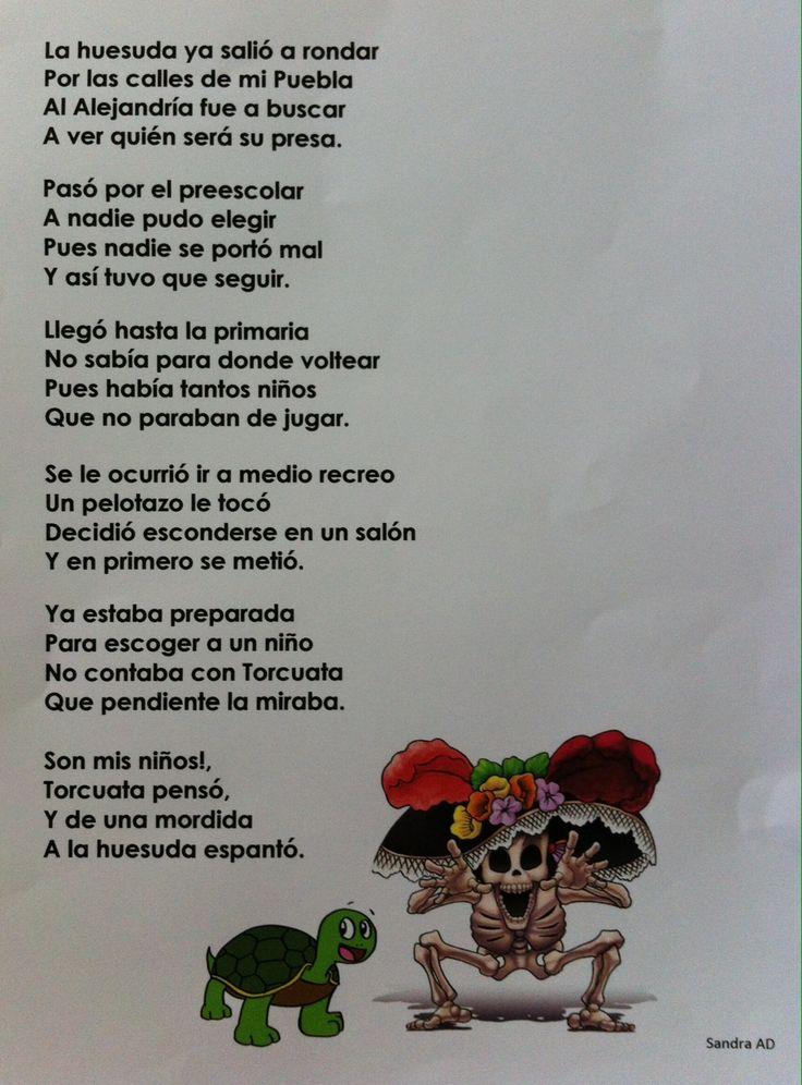 Calavera escrita por la Sra. Sandra Arroyo. Día de Muertos 2014