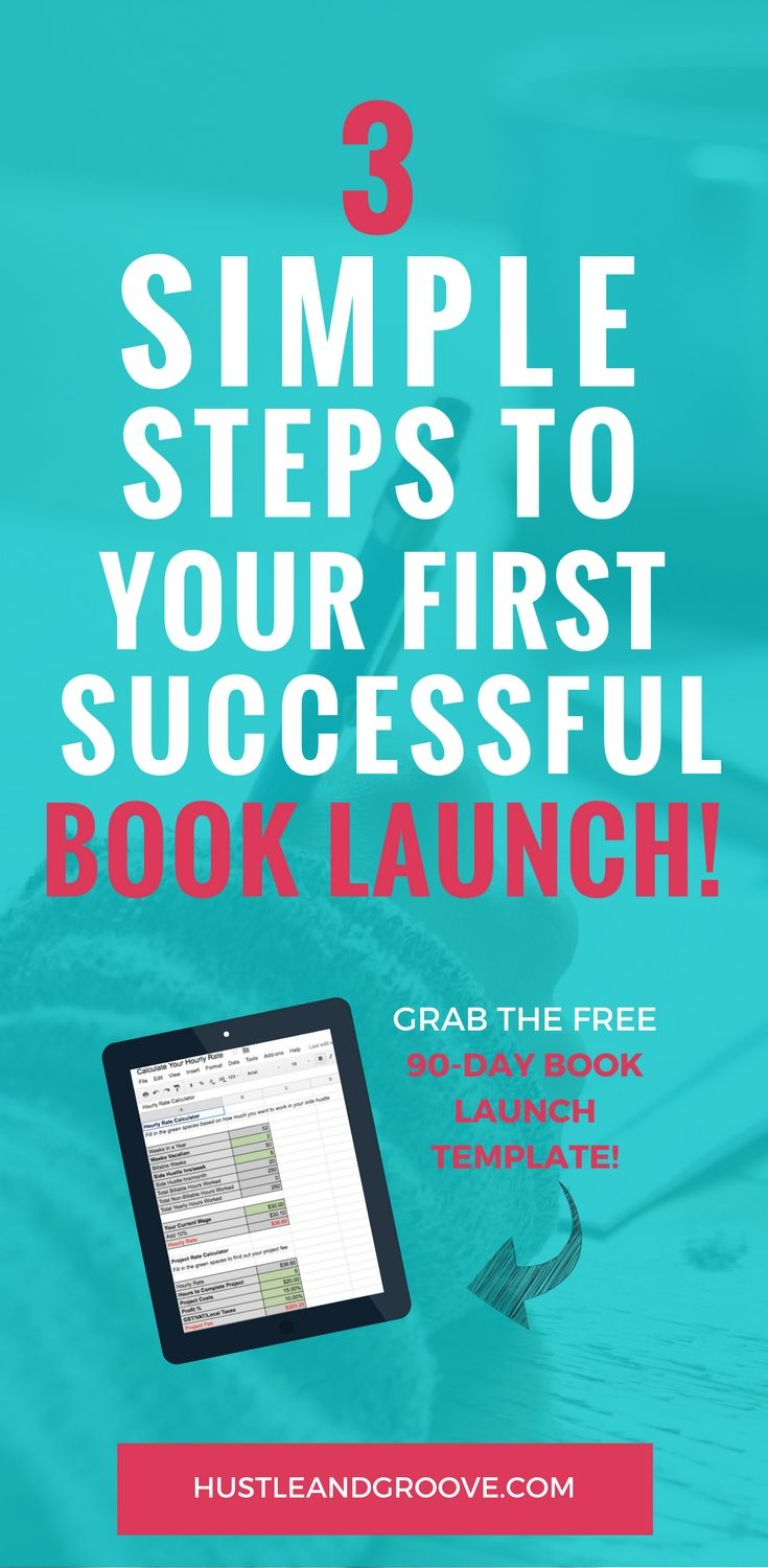 Follow these simple steps to have a successful first book