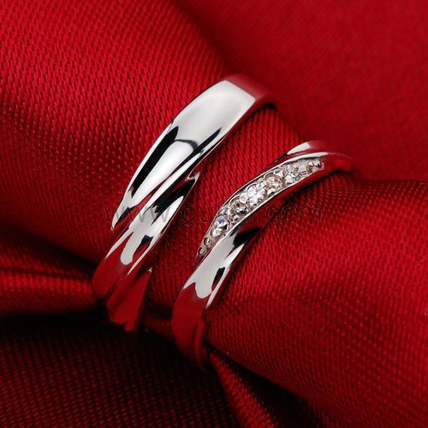 Custom Men And Women Promise Rings Set Sterling Silver Wedding