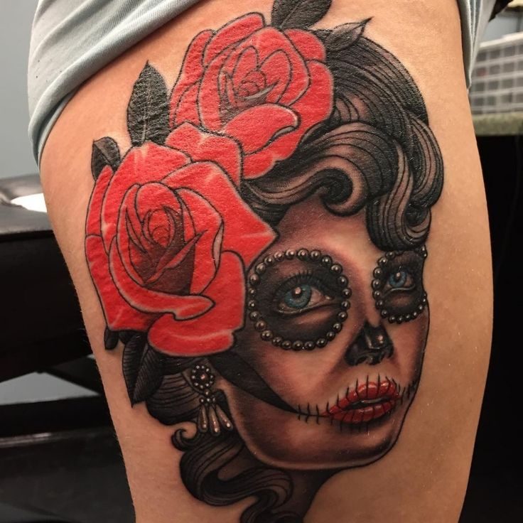 22 best old school tatto fotos de tatuagens images on for Old school day of the dead tattoo