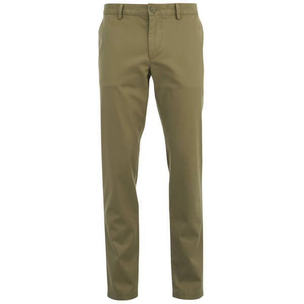 Lacoste Men's Chino Trousers - Beige ($64) ❤ liked on Polyvore featuring men's fashion, men's clothing, men's pants, men's casual pants and beige
