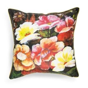 Painted Flowers Scatter Cushion