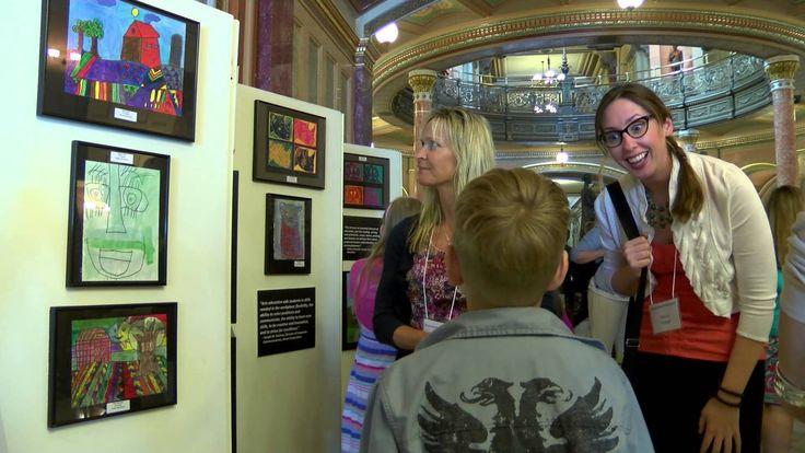 Sen. McConnaughay Welcomes Art Contest Winners to Springfield