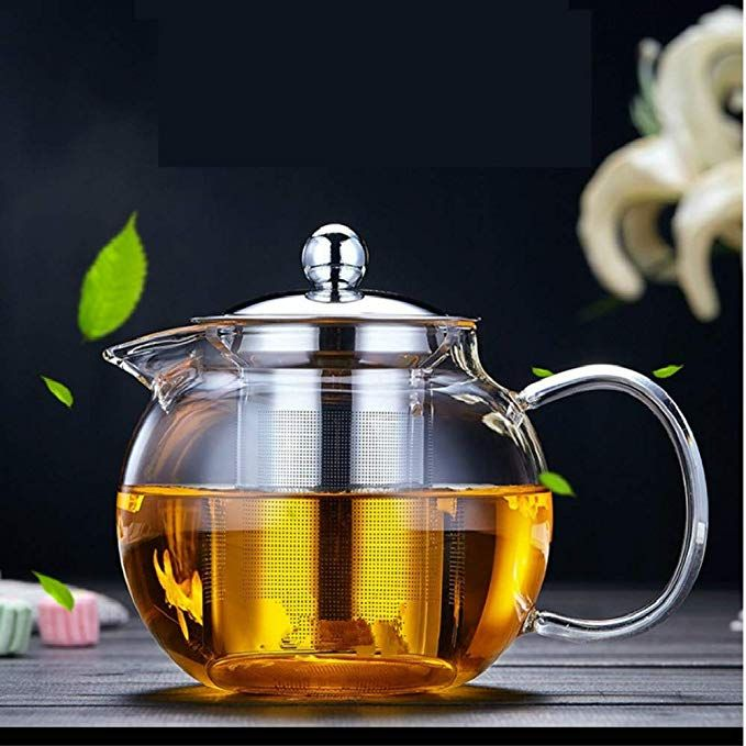 Amazon Com Glass Teapot Tea Kettle Obor Borosilicate Glass Tea Maker Stainless Steel With Removable Infuser For Blooming And Loose Leaf Glass Teapot Tea Pots Loose Leaf Tea