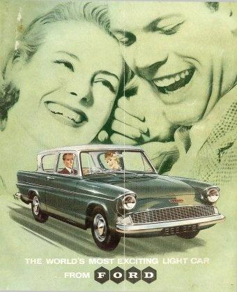 Mijn vader huurde een Ford Anglia om twee weken op vakantie te gaan naar Drenthe in een huisje bij een boer.