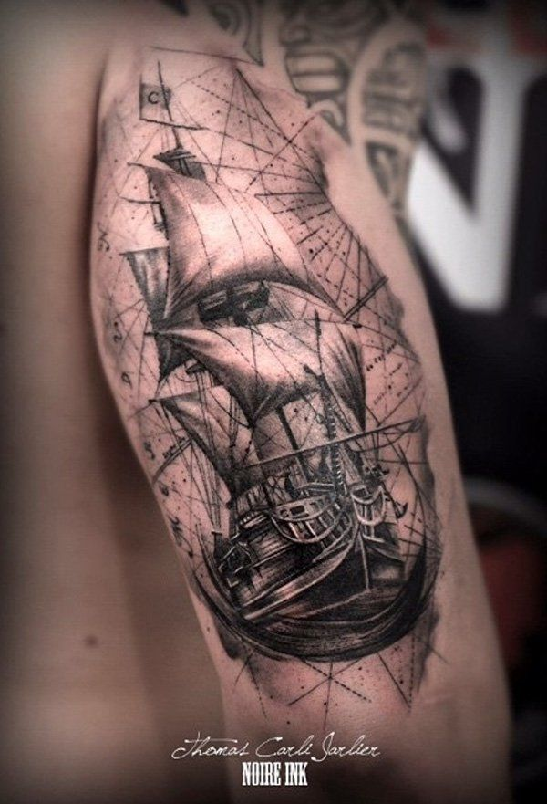 Boat tattoo - 100 Boat Tattoo Designs  <3 <3