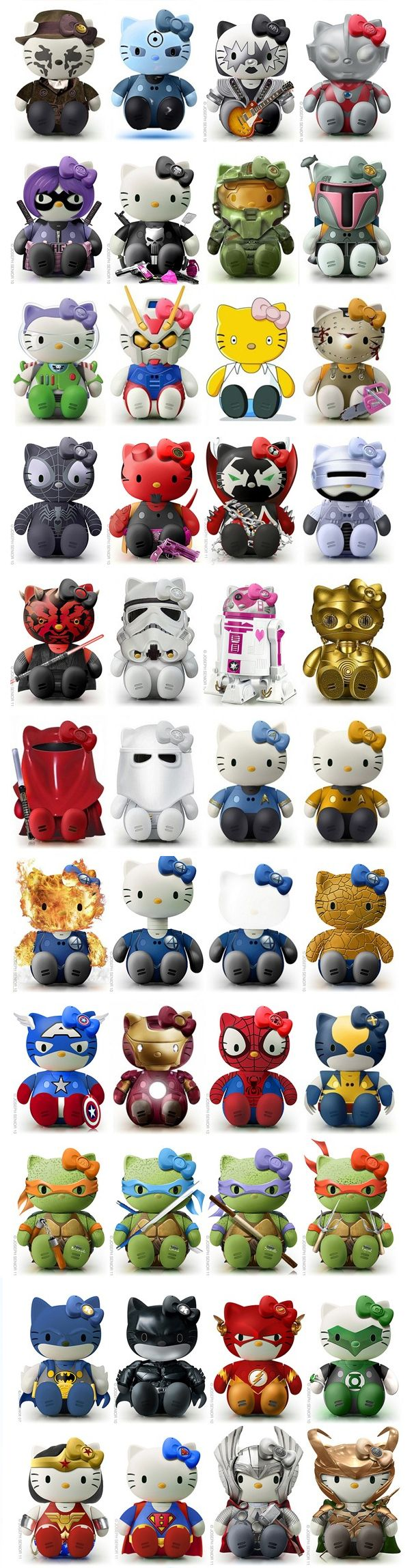 nerd hello kitty - I dont really love Hello kitty...  but I'd collect these!