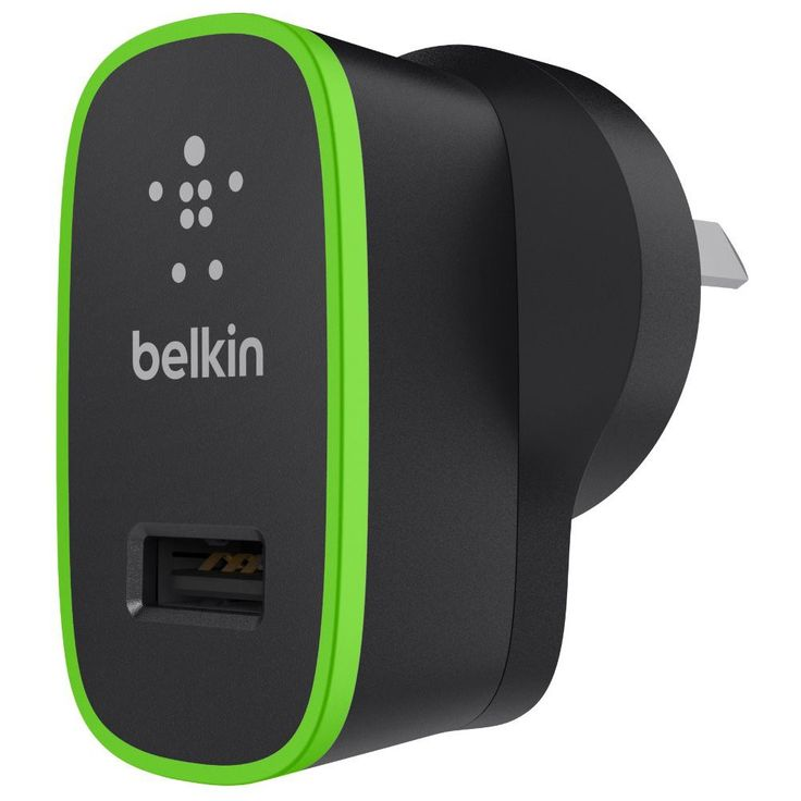 Belkin Assorted Colours USB Wall Charger 5V-2.1A Black